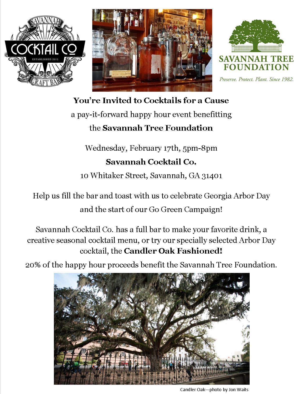 Cocktails for a Cause! @ Savannah Cocktail Co. | Savannah | Georgia | United States