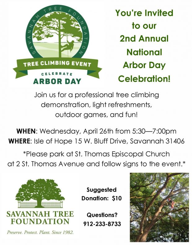 Arbor Day Celebration and Tree Climbing Demonstration! @ Isle of Hope Bluff | Savannah | Georgia | United States